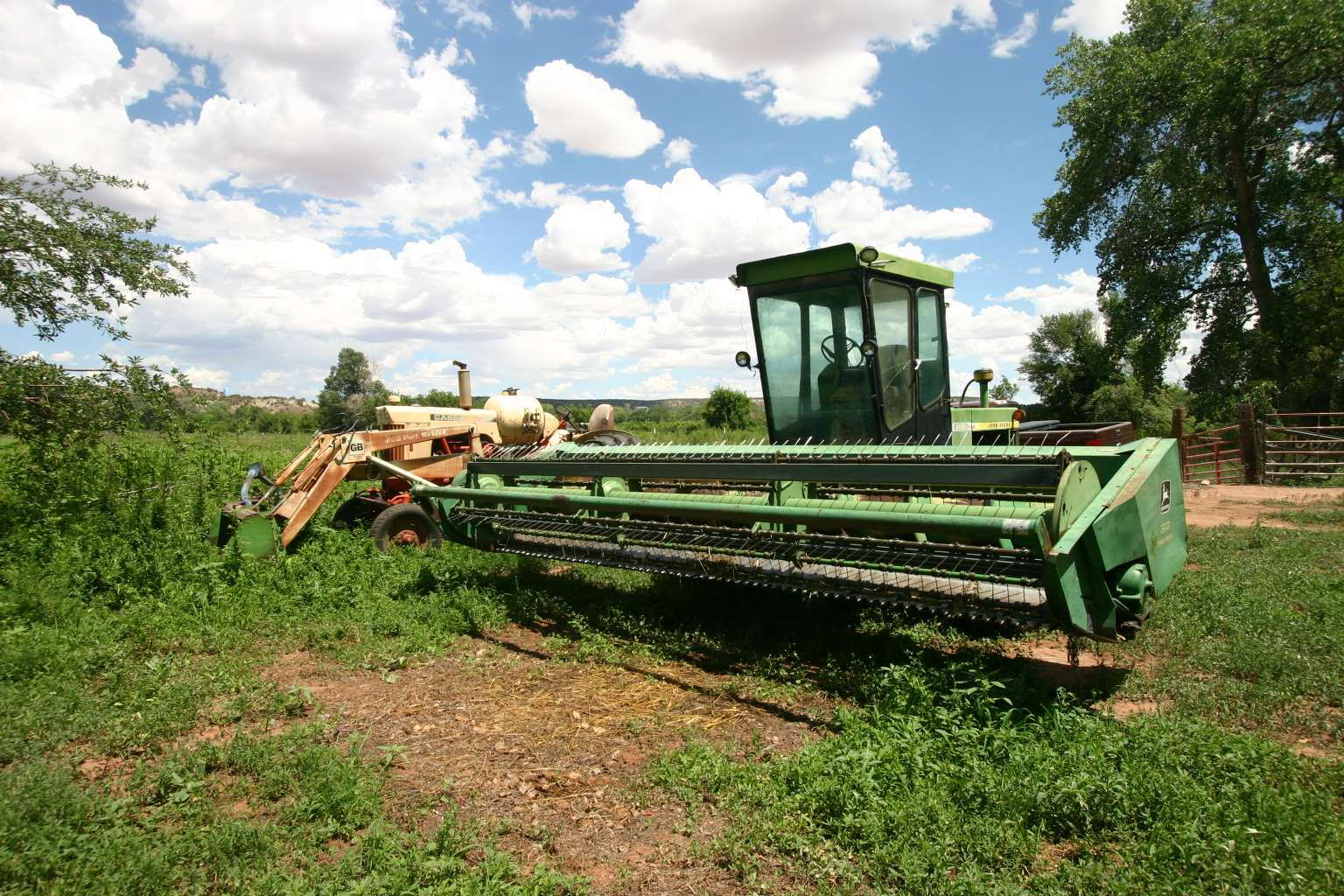 Winrower for cutting hay & alfalfa, getting it ready for baling....